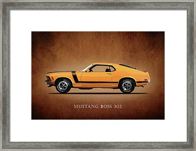 Ford Mustang Boss 302 Framed Print by Mark Rogan
