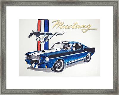 Ford Mustang Framed Print by Eva Ason