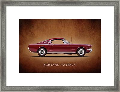 Ford Mustang Fastback 1965 Framed Print by Mark Rogan