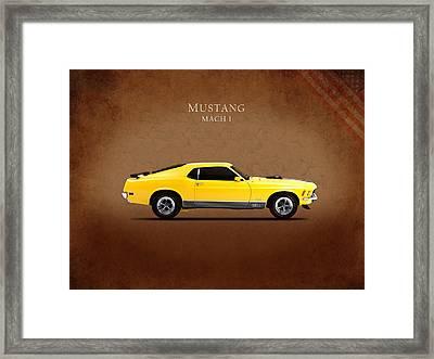 Ford Mustang Mach 1 Framed Print by Mark Rogan