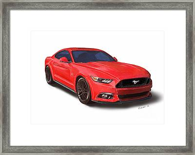Ford Mustang Print Framed Print by Andrew Collins