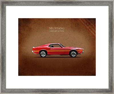 Ford Mustang Shelby Gt350 1969 Framed Print