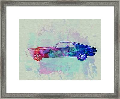 Ford Mustang Watercolor 1 Framed Print by Naxart Studio