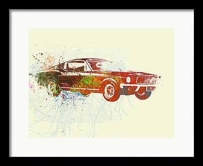 Automobile Paintings Framed Prints