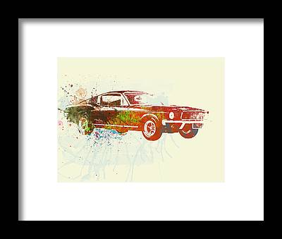 Classic Mustang Car Framed Prints