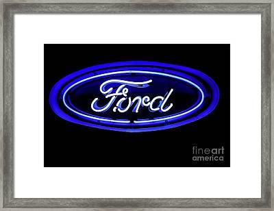 Ford Neon Sign Framed Print