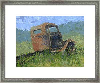 Ford On The Range Abstract Framed Print