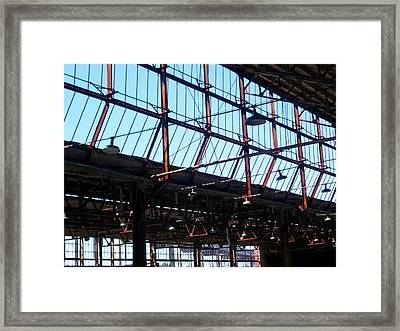 Ford Plant Skylights Framed Print by Edmund Akers