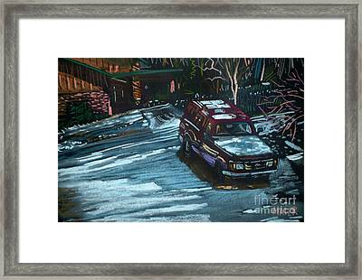 Ford Range In The Snow Framed Print by Donald Maier