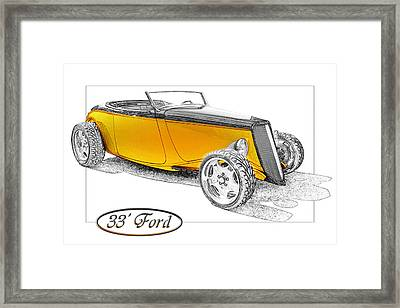 Ford Roadster Framed Print by Michael Gass