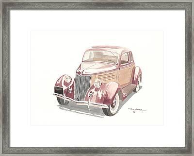 Ford Sedan  1935 Framed Print by John Kinsley
