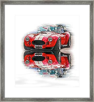 Ford/shelby Ac Cobra - Reflection Framed Print by Steve Harrington