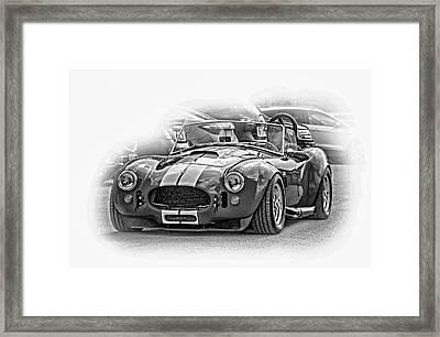 Ford/shelby Ac Cobra - Vignette Bw Framed Print by Steve Harrington