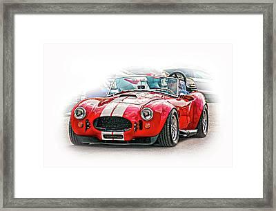 Ford/shelby Ac Cobra - Vignette Framed Print by Steve Harrington
