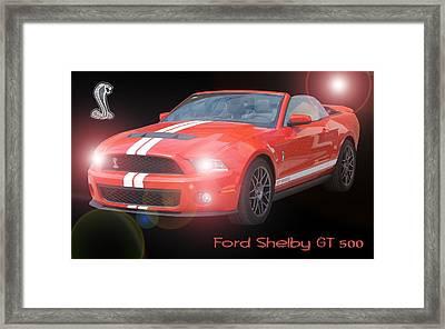 Ford Shelby Gt 500 Framed Print by David and Lynn Keller