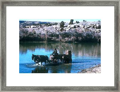 Ford The River Framed Print by Jerry McElroy