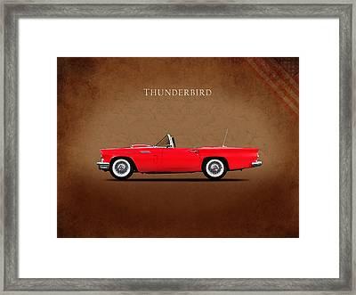 Ford Thunderbird 1957 Framed Print by Mark Rogan