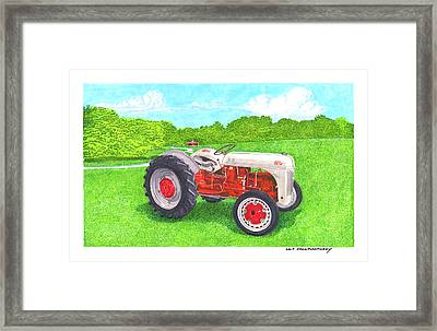 Framed Print featuring the painting Ford Tractor 1941 by Jack Pumphrey