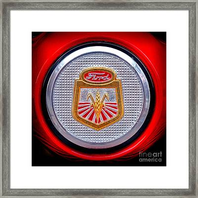 Ford Tractor Badge Framed Print
