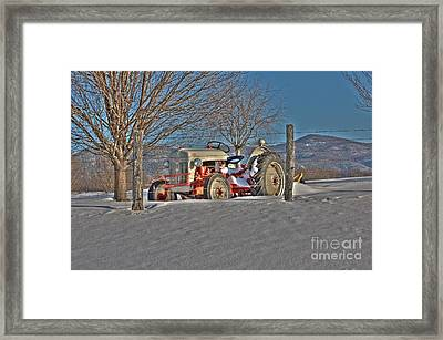 Ford Tractor Framed Print by Todd Hostetter