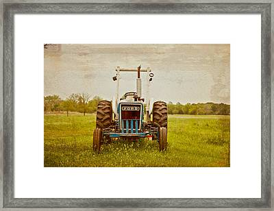Ford Tractor Framed Print by Toni Hopper