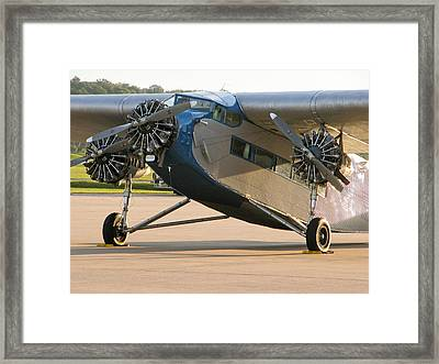 Ford Trimotor Framed Print by Tim Mulina
