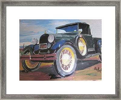 Ford Truck Framed Print by David Poyant Paintings