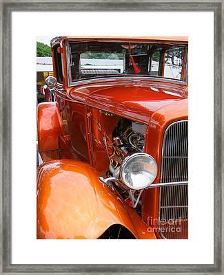 Ford V8 Right Side View Framed Print