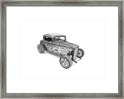 Ford V8 Roadster Custom 1932 Framed Print by Gabor Vida