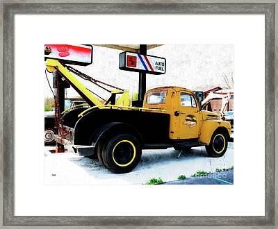 Ford Wrecker  Framed Print by Steven Digman