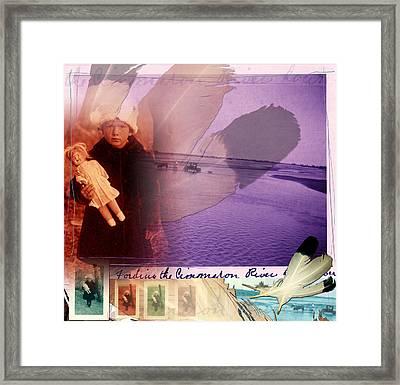 Fording The Cimarron Framed Print by Deborah Hildinger