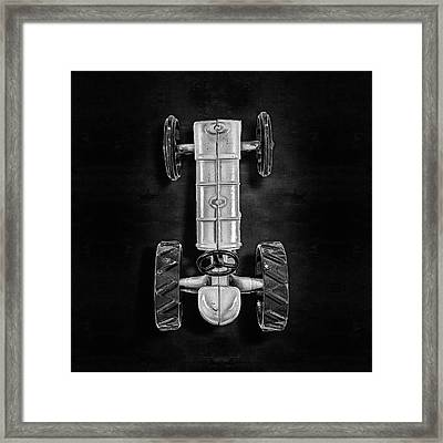 Fordson Tractor Top Bw Framed Print