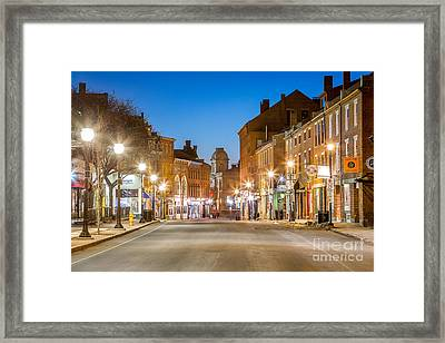 Fore Street Portland Maine Framed Print by Benjamin Williamson