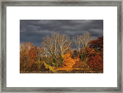 Foreboding  Skies Framed Print by Jessica Jenney