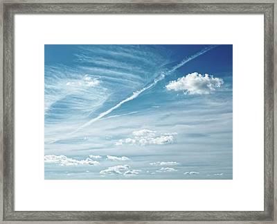 Forecast ...breezy Framed Print by Tom Druin