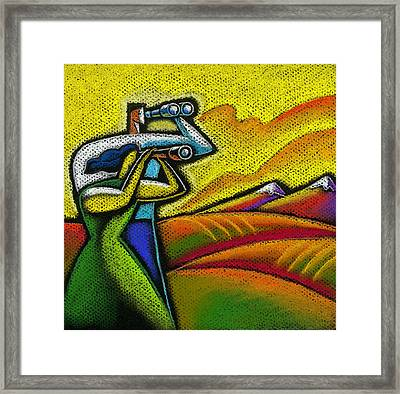 Forecast Framed Print by Leon Zernitsky