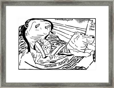 Foreign Aid The The Palestinian Authority Framed Print by Yonatan Frimer Maze Artist