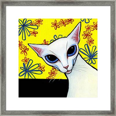 Foreign White Cat Framed Print