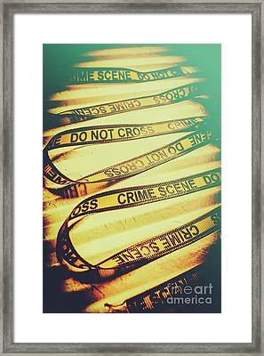 Forensic Csi Lab Details Framed Print