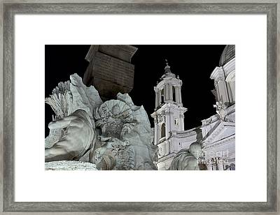 Foreshortening Of Piazza Navona Framed Print by Fabrizio Ruggeri