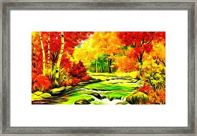 Forest And River - Da Framed Print