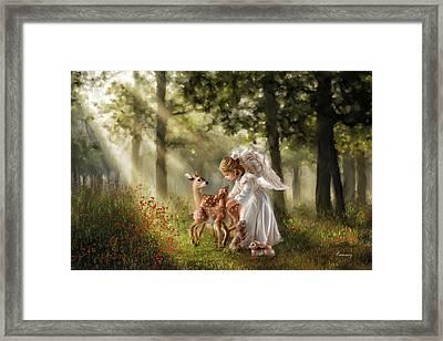 Forest Angel Framed Print