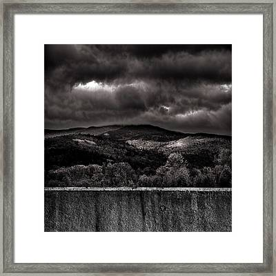 Forest Behind The Wall Framed Print by Bob Orsillo