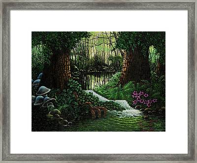 Framed Print featuring the painting Forest Brook by Michael Frank