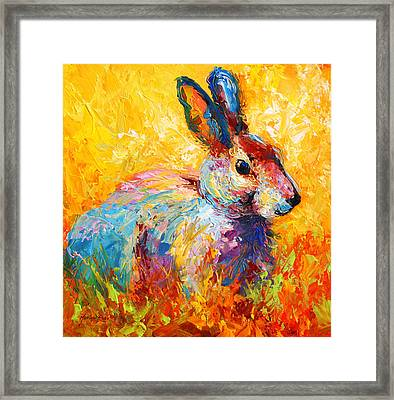 Forest Bunny Framed Print by Marion Rose