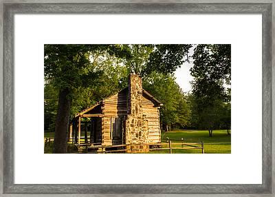 Forest Cabin Framed Print by Parker Cunningham