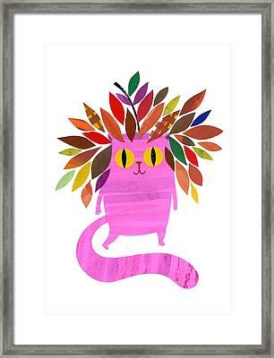 Forest Cat Framed Print
