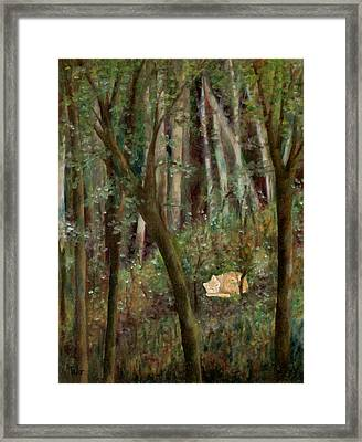 Forest Cat Framed Print