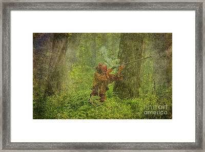 Framed Print featuring the digital art Forest Clash by Randy Steele