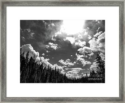 A New Day, Black And White Framed Print